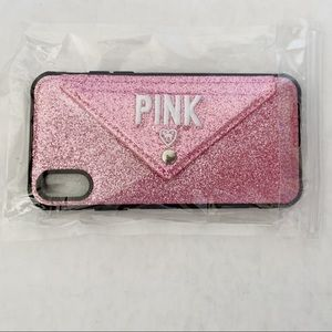 Pink glitter iPhone X Cell Phone Case